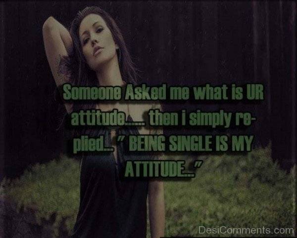 Being Single Is My  Attitude-dc09