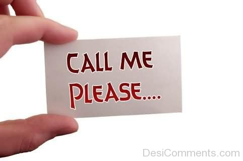 Call Me Please…