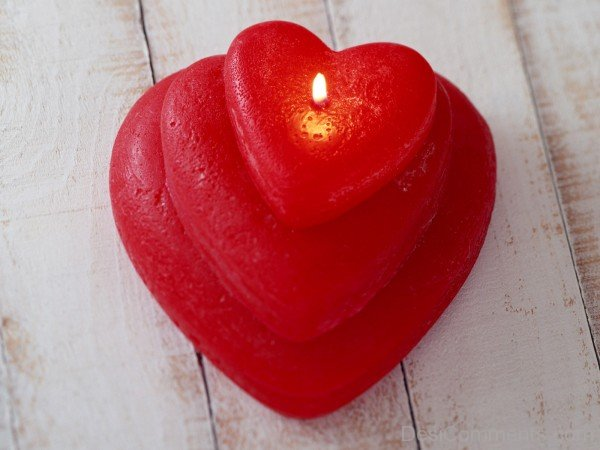 Candle Heart Picture- DC 02058