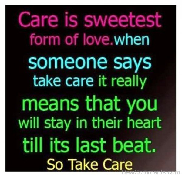 Picture: Care Is Sweetest Form Of Love