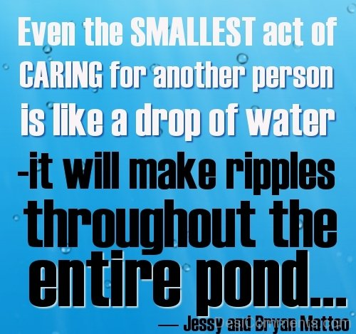 Caring For Another Person Is Like A Drop Of Water-DC43