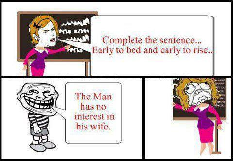 Complete this sentence...?