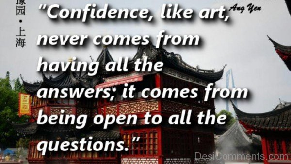 Confidence, Like Art, Never Comes From Having All The Answer-DC453
