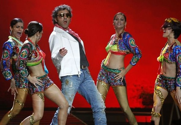 Dancing Bobby Deol With Female Models