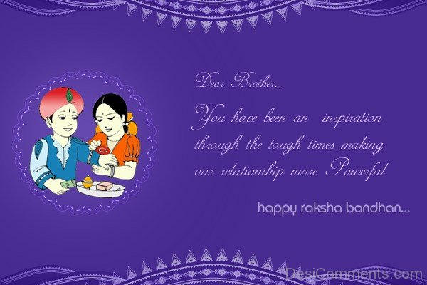 Dear Brother - Happy Raksha Bandhan