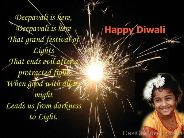 Deepavali Leads Us From Darkness To Light - Happy Diwali-DC936DC21