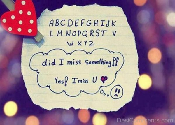 Did I Miss Something Ys I Miss You-DC006