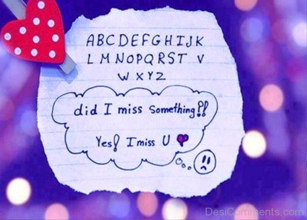Did I Miss Something Ys I Miss You- Dc 4006