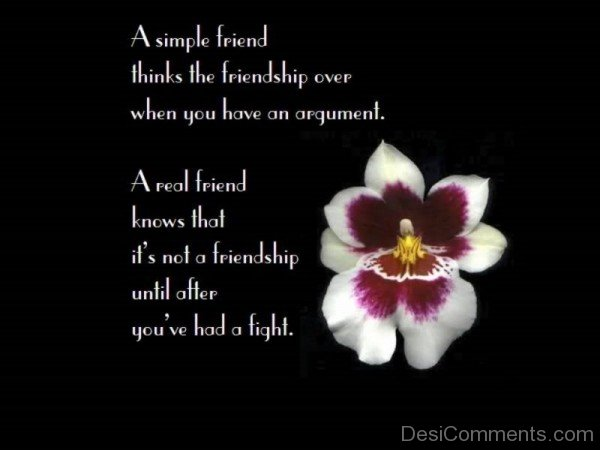 Diffrene Between A Simple Friend And A Real Friend