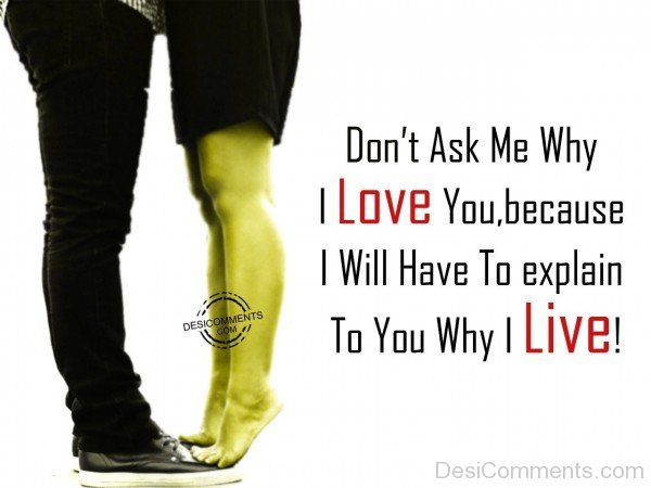 Don't Ask Me Why I Love You -  34