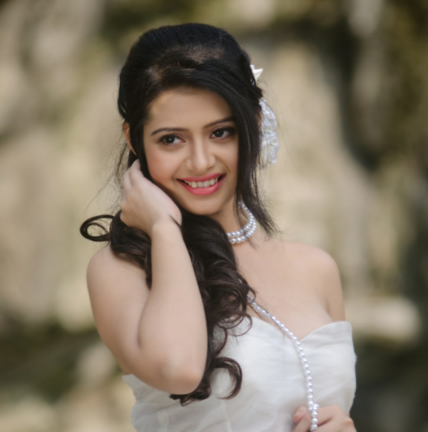 Ena Saha In White Outfit-DC309