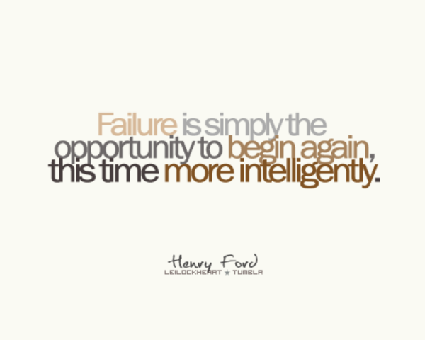 Picture: Failure Is Giving Opportunity Being More Intelligent