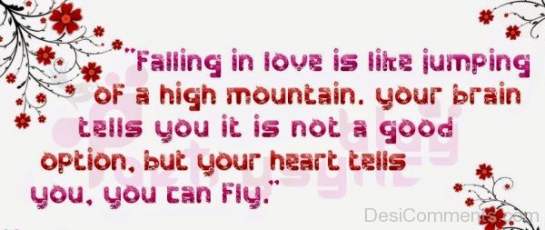 Falling In Love Is Like Jumping Of A High Mountain - DC415