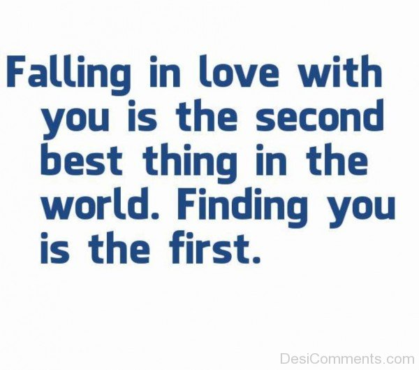 Falling In Love With You Is The Second Best Thing In The World - DC448