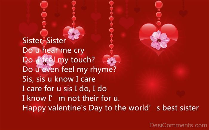 Happy Valentines Sister Quotes: Sister's Day Pictures, Images, Graphics