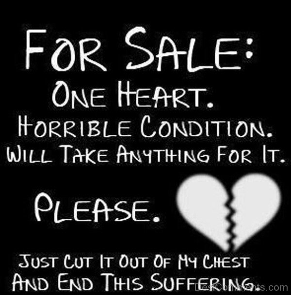 For sale one heart