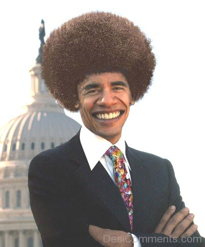 Funny Obama Hairstyle