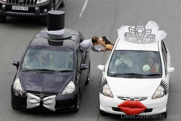 Wedding Car Decoration Ideas Funny : Funny wedding car decoration ideas dc desi