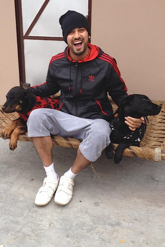 Garry Sandhu With Dogs