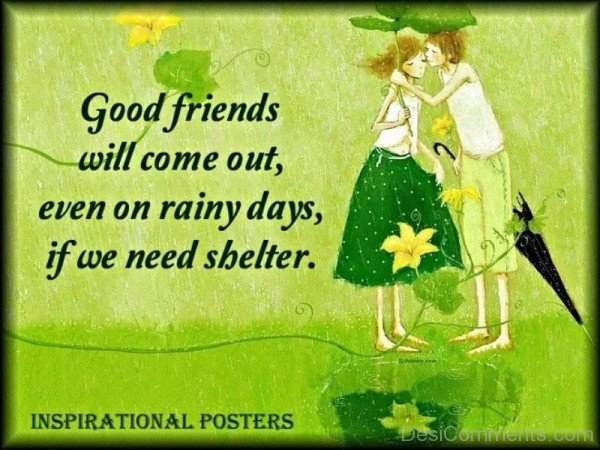 Good Friends Will Come Out Even On Rainy Days If We Need Shelter-DC070
