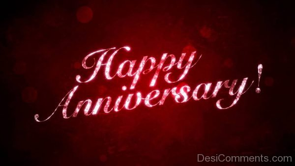 Happy Anniversary On Red Background