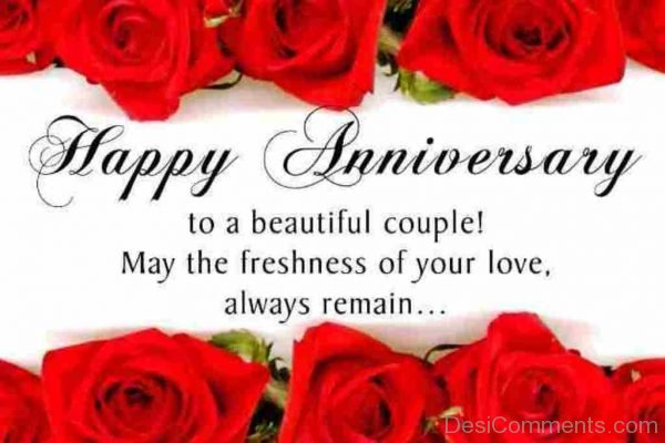 Happy  Anniversary To A Beautiful Couple
