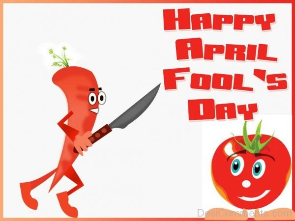 Happy April Fool's Day Tomato And Knife-DC16