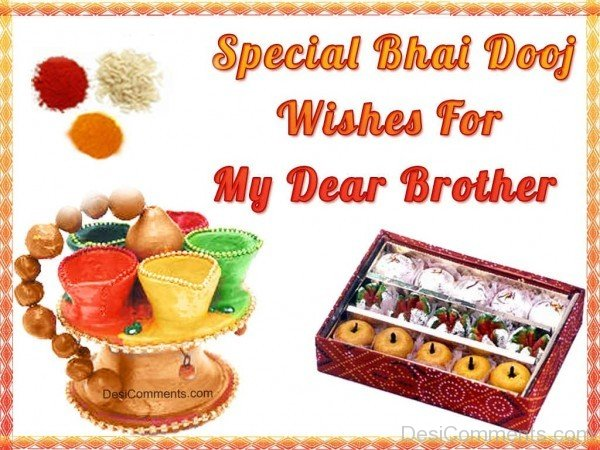 Happy Bhai Dooj To My Dear Brother