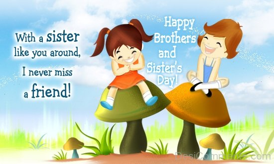 Happy Brothers And Sister's Day