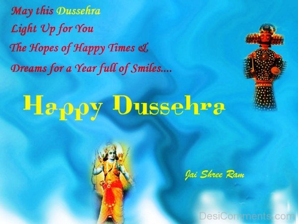 Happy Dussehra And Jai Shree Ram-DC0217