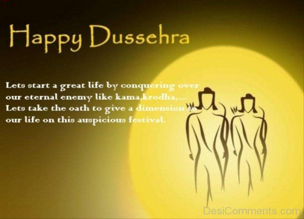 Happy Dussehra – Lets Start A new Life
