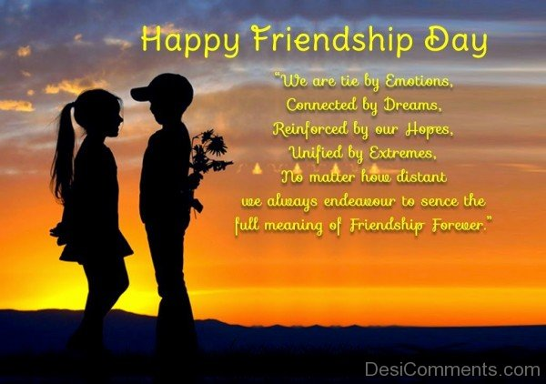 Happy Friendship Day To You
