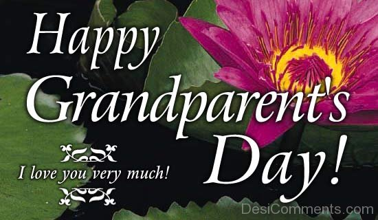 Picture: Happy GrandParents Day I Love You Very Much !