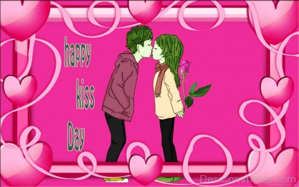 Happy Kiss Day Sweet Couple-fty709DESI15