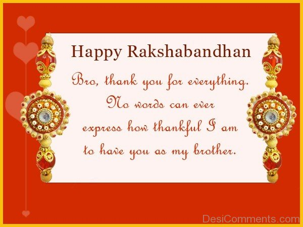 Happy Raksha Bandhan - Bro, Thank You For Everything