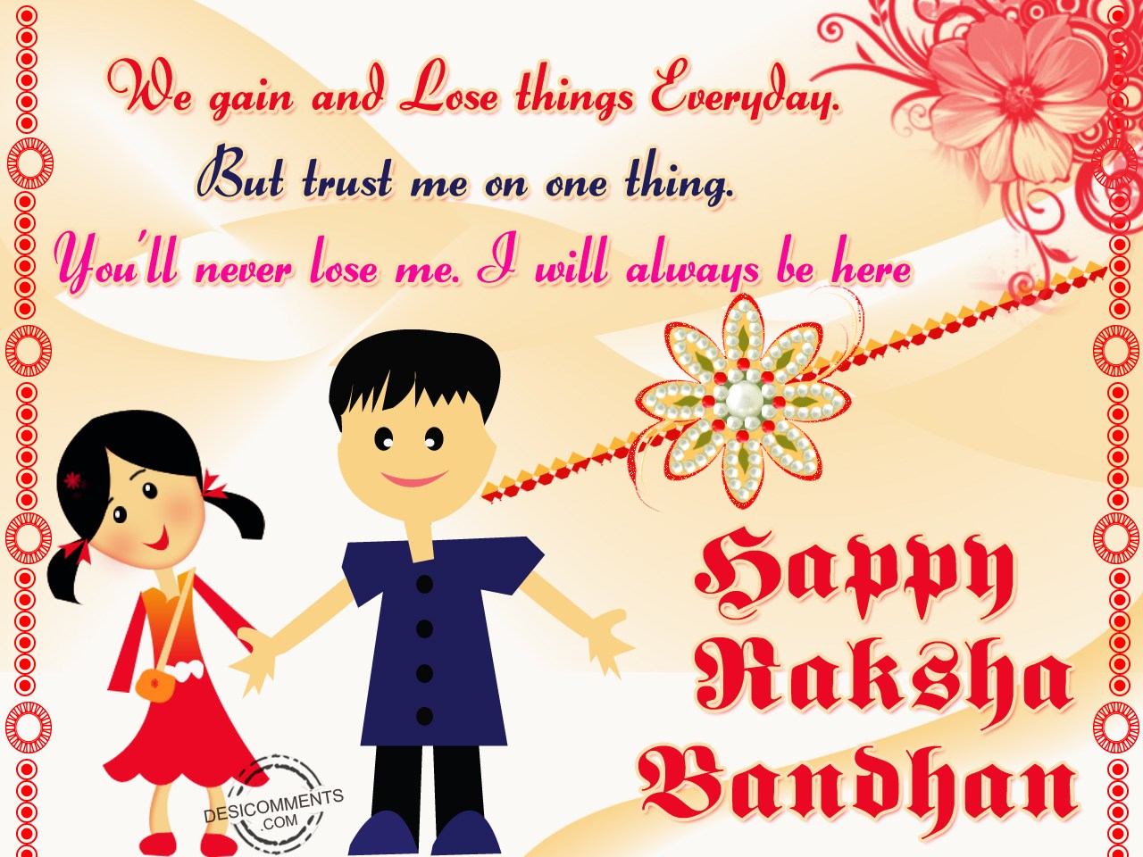 happy raksha bandhan quote for sisters