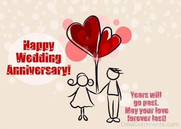 Happy Wedding Happy Anniversary Image-DC40