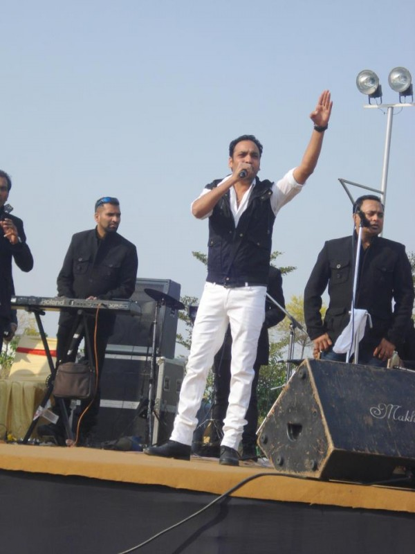 Harjit Harman During A Stage Show