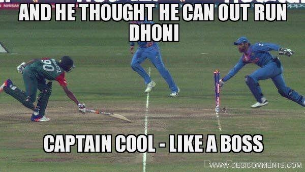 He Thought He Can Out Run Dhoni