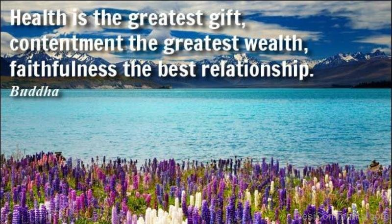 health is the greatest gift Health is the greatest gift, contentment the greatest wealth, faithfulness the best relationship buddha.