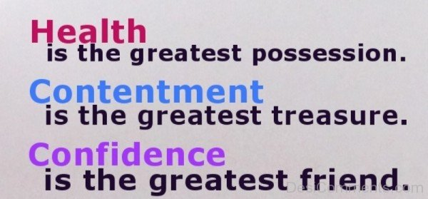 Health Is The Greatest Possession-DC067