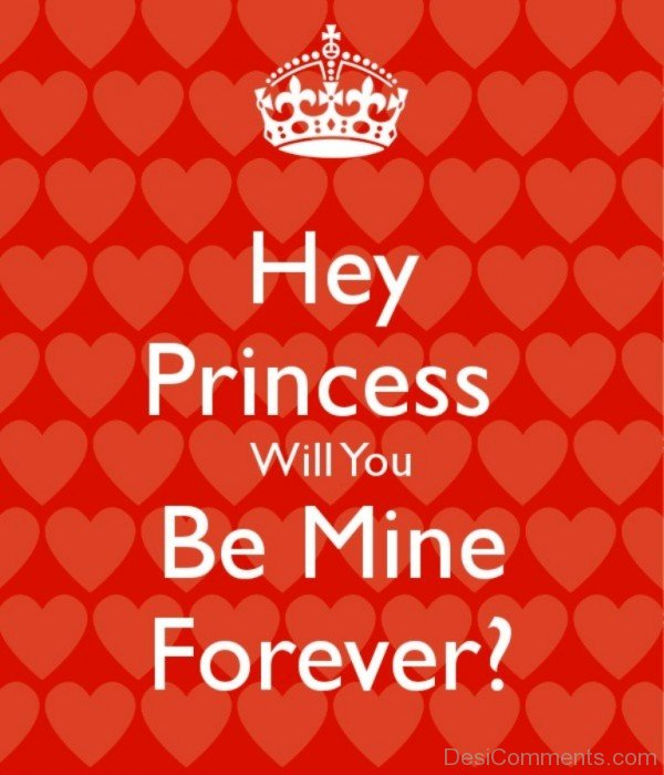 Hey Princess Will You Be Mine Forever- DC 6060