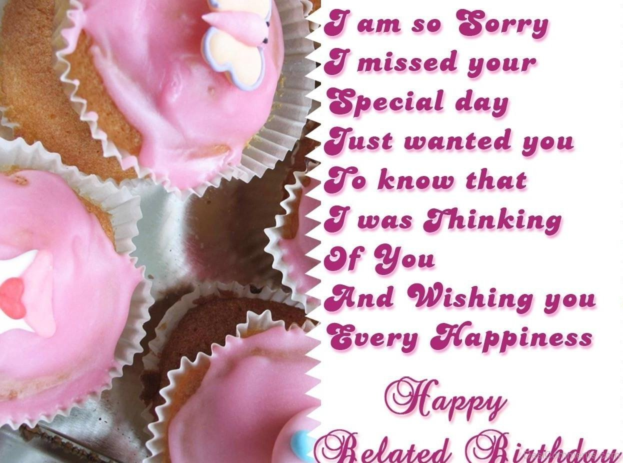 Belated birthday pictures images graphics page 10 i am so sorry happy belated birthday kristyandbryce Image collections