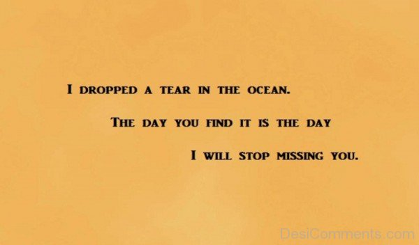 I Dropped A Tear In The Ocean-DC169