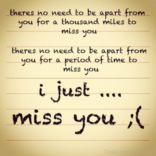 I Just Miss You
