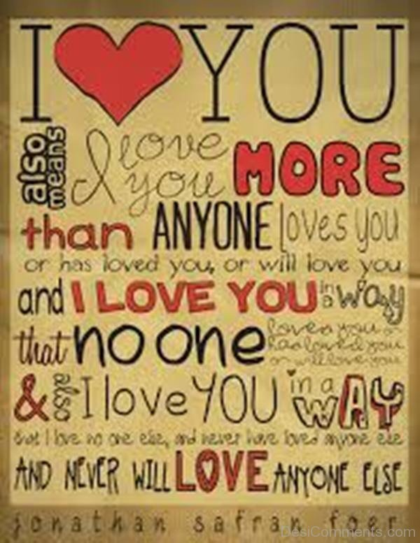 Picture: I Love You Image