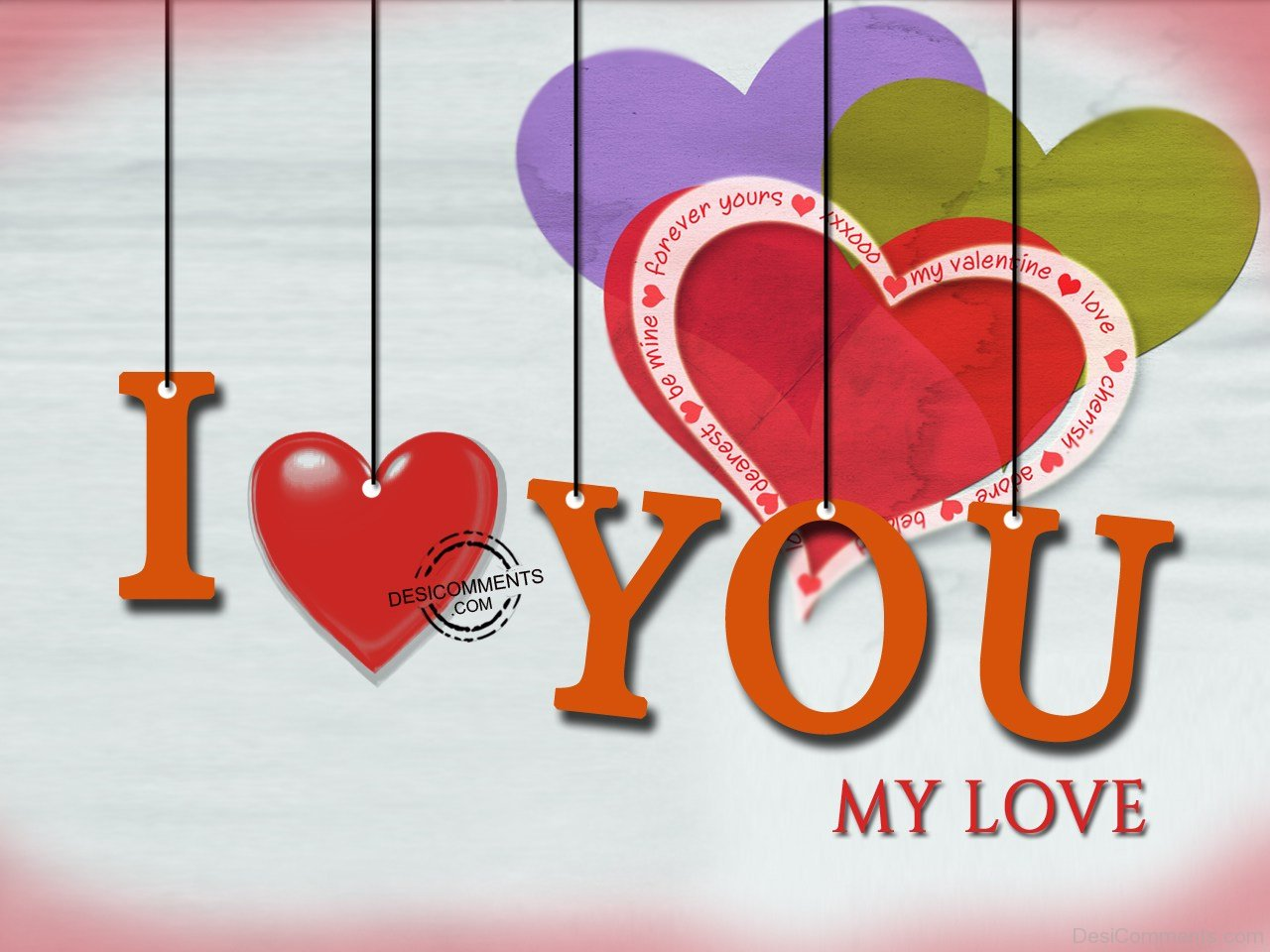 I Love You My Love Wallpaper : I Love You,MY Love - Desicomments.com