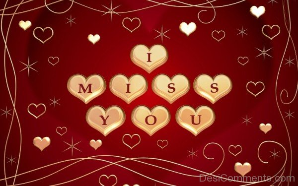 I Miss You Heart Image- Dc 4037