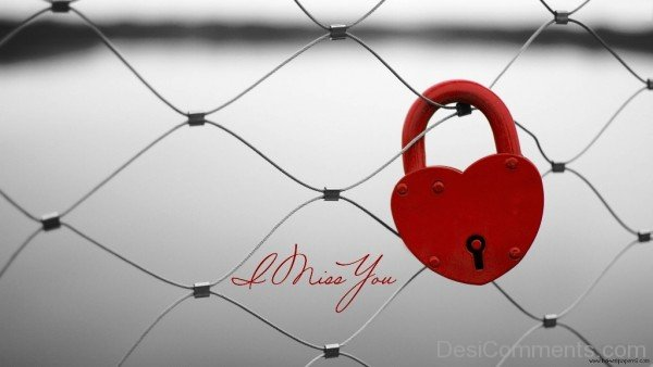 I Miss You Love Lock Image-umt710DESI16