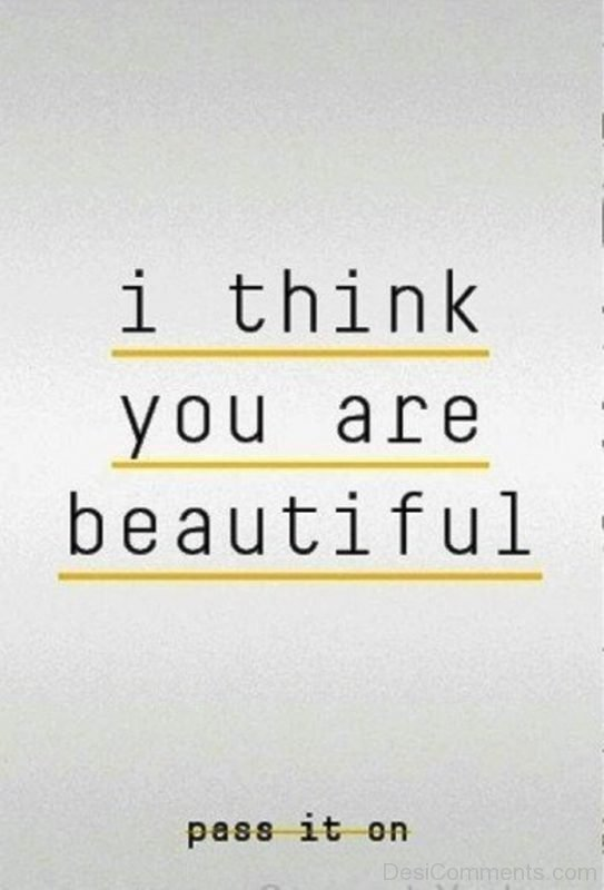 I Think You Are Beautiful-DC041